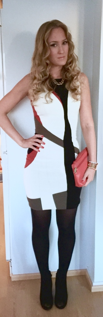 Karen Millen dress, Da Milano clutch & Esprit boots
