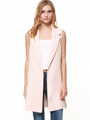FOREVER NEW Longline Sleeveless Jacket