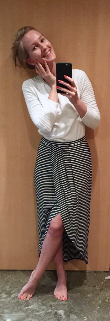 Nautical Skirt Outfit