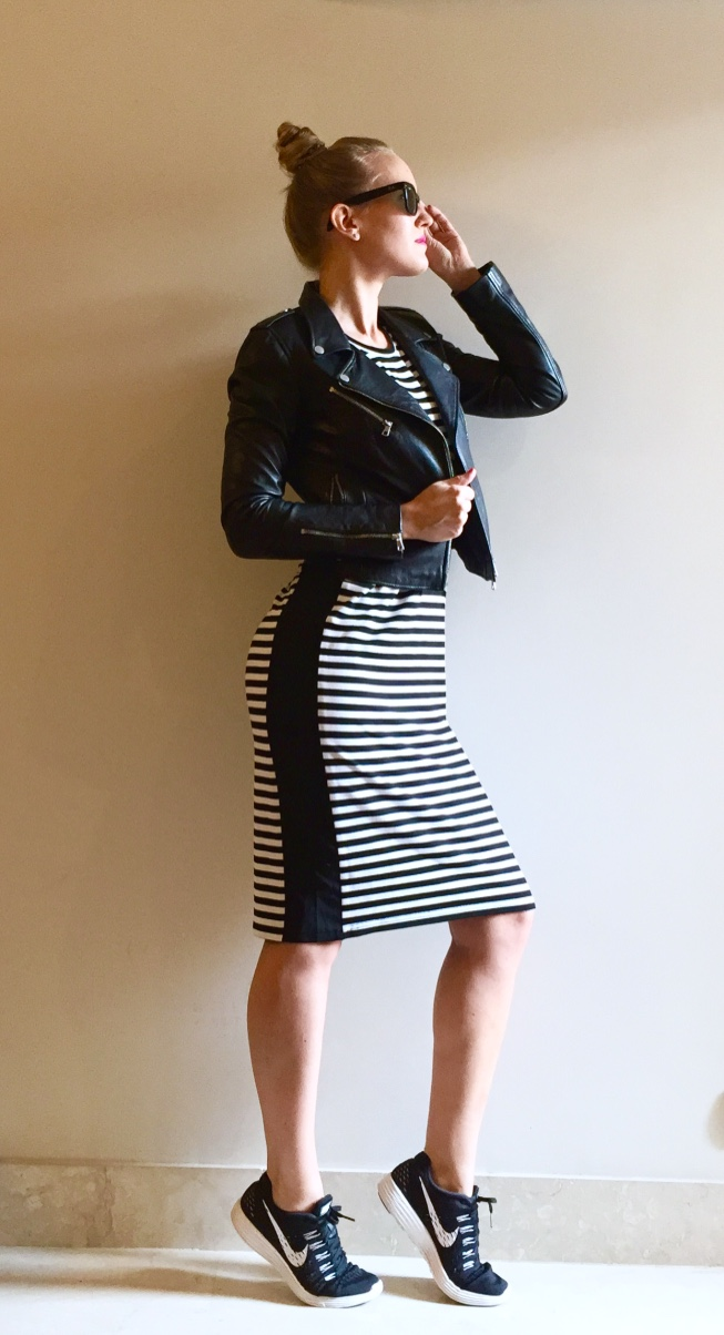 easy striped dress outfit
