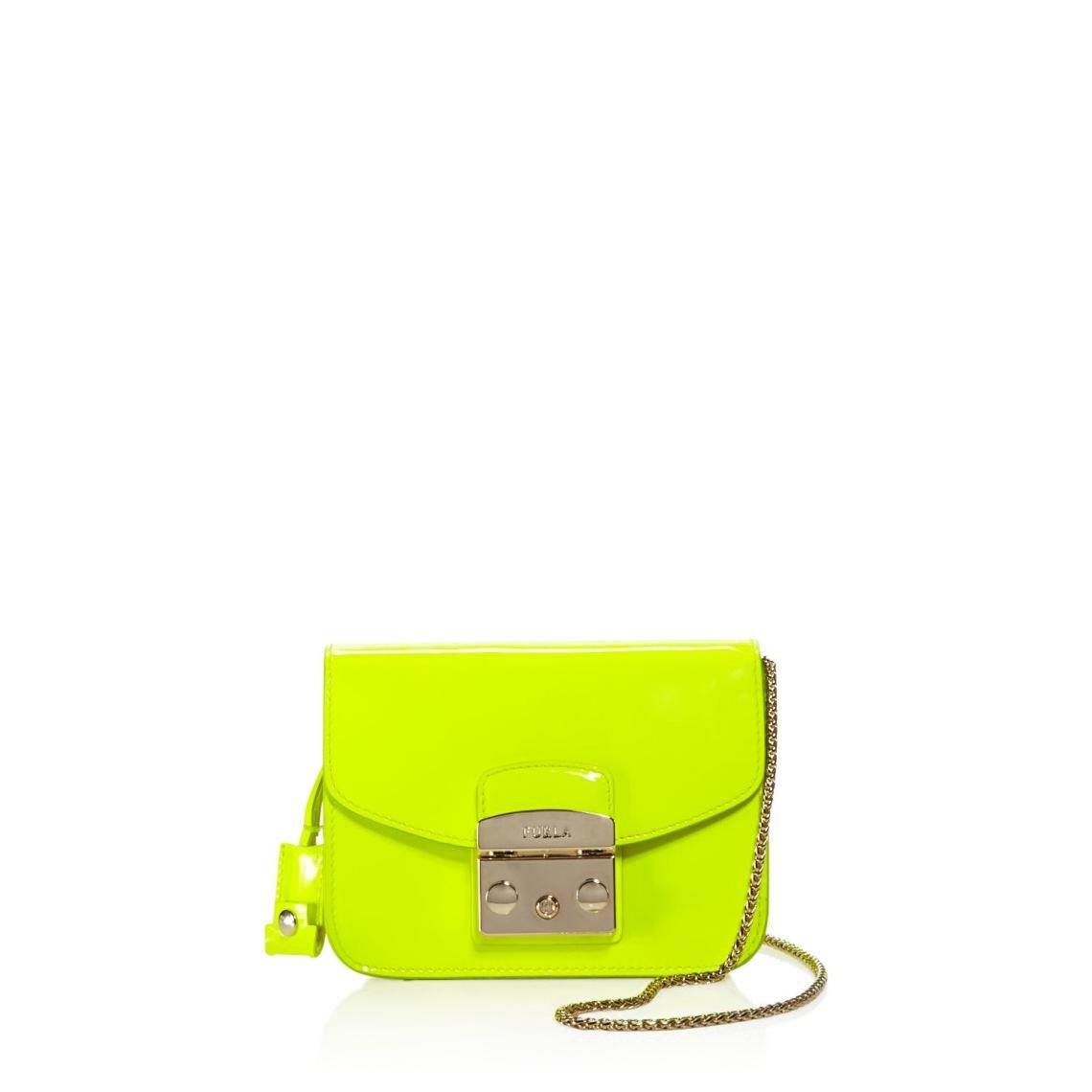 Furla Mini Metroppolis Jade Fluo Patent Leather