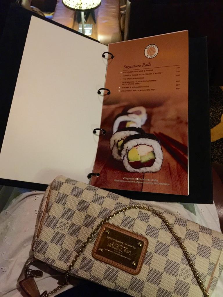PVR Gold Class menu