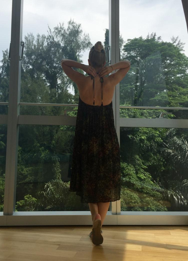 Zara Batik Beach Dress