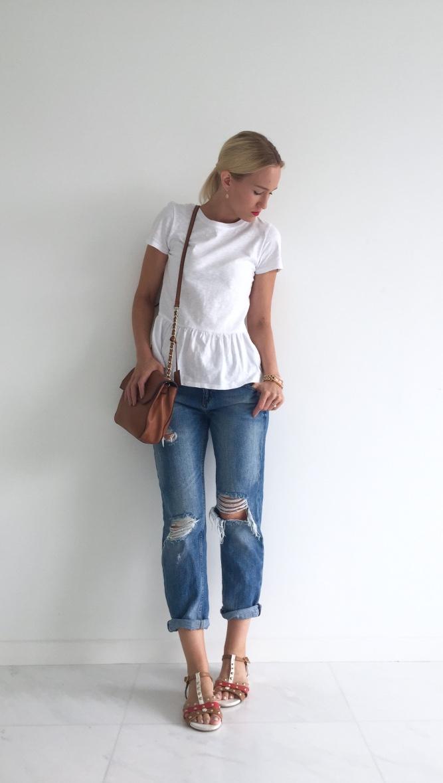 Forever New t-shirt, Zara jeans, Karen Millen bag, shoes from India