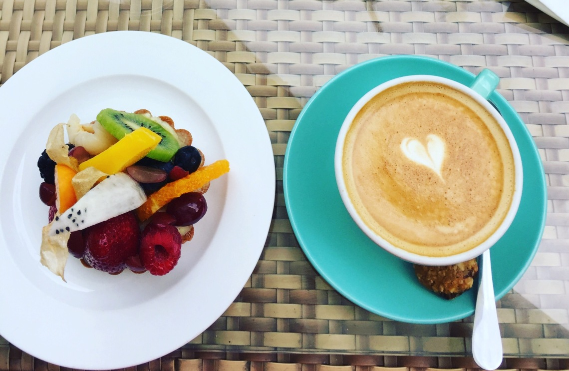 Afternoon coffee at Privé at Keppel Bay restaurant nearby