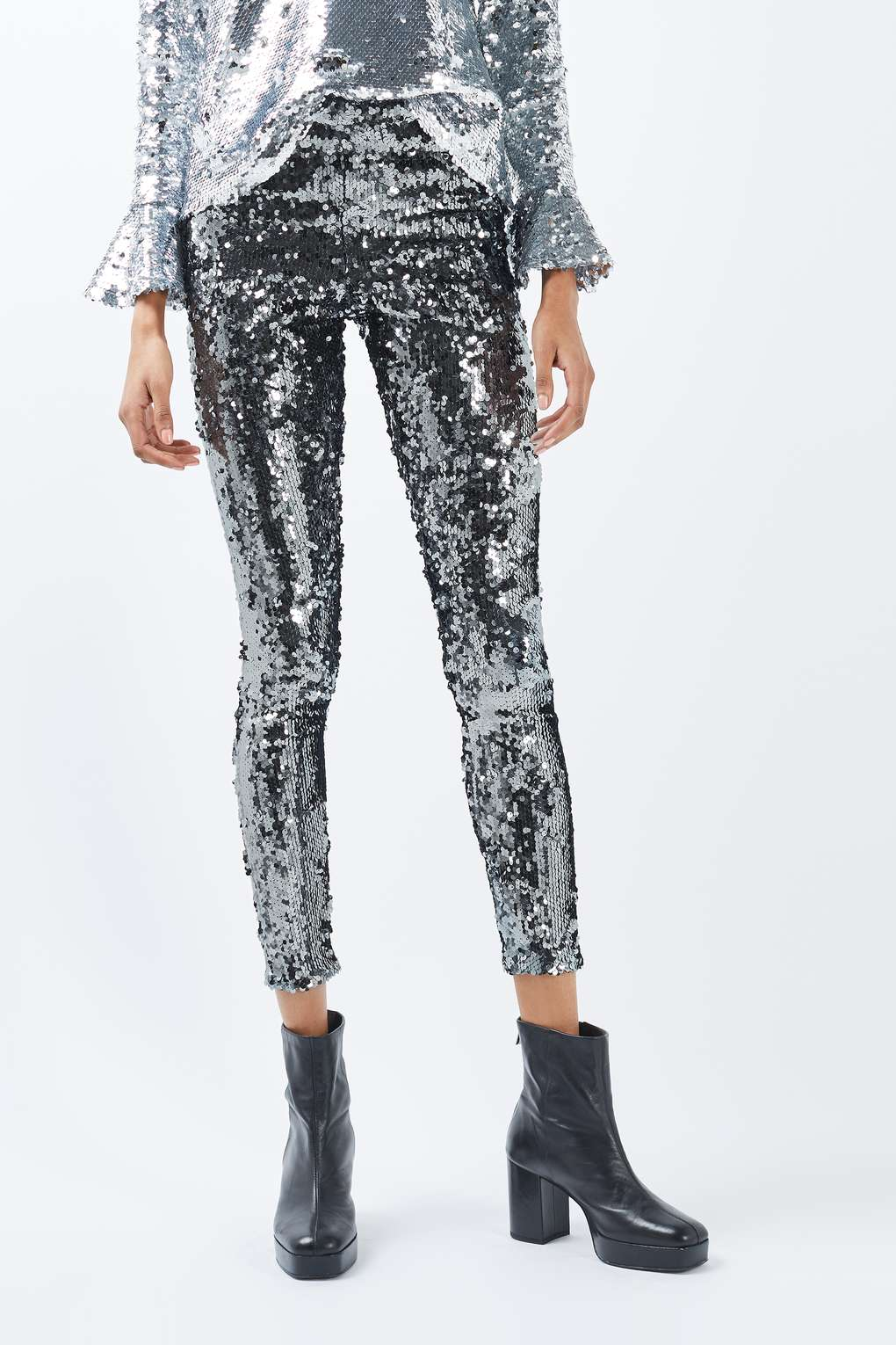 Topshop sequin leggings