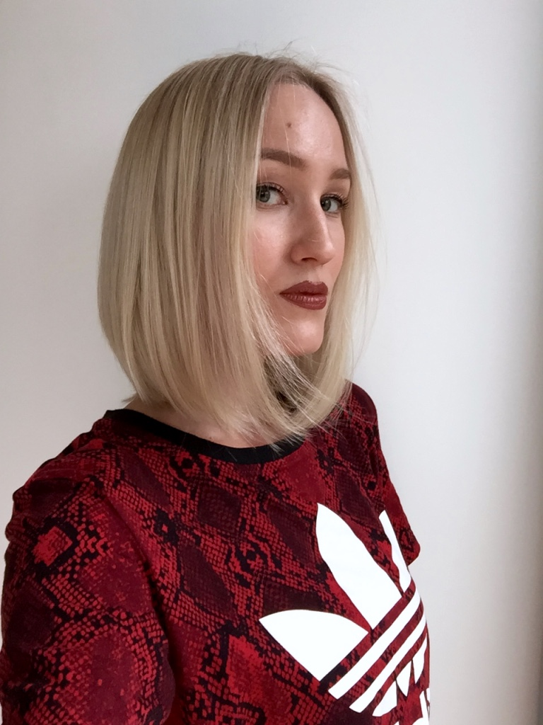 Blonde Boudoir cold blonde bob hairstyle