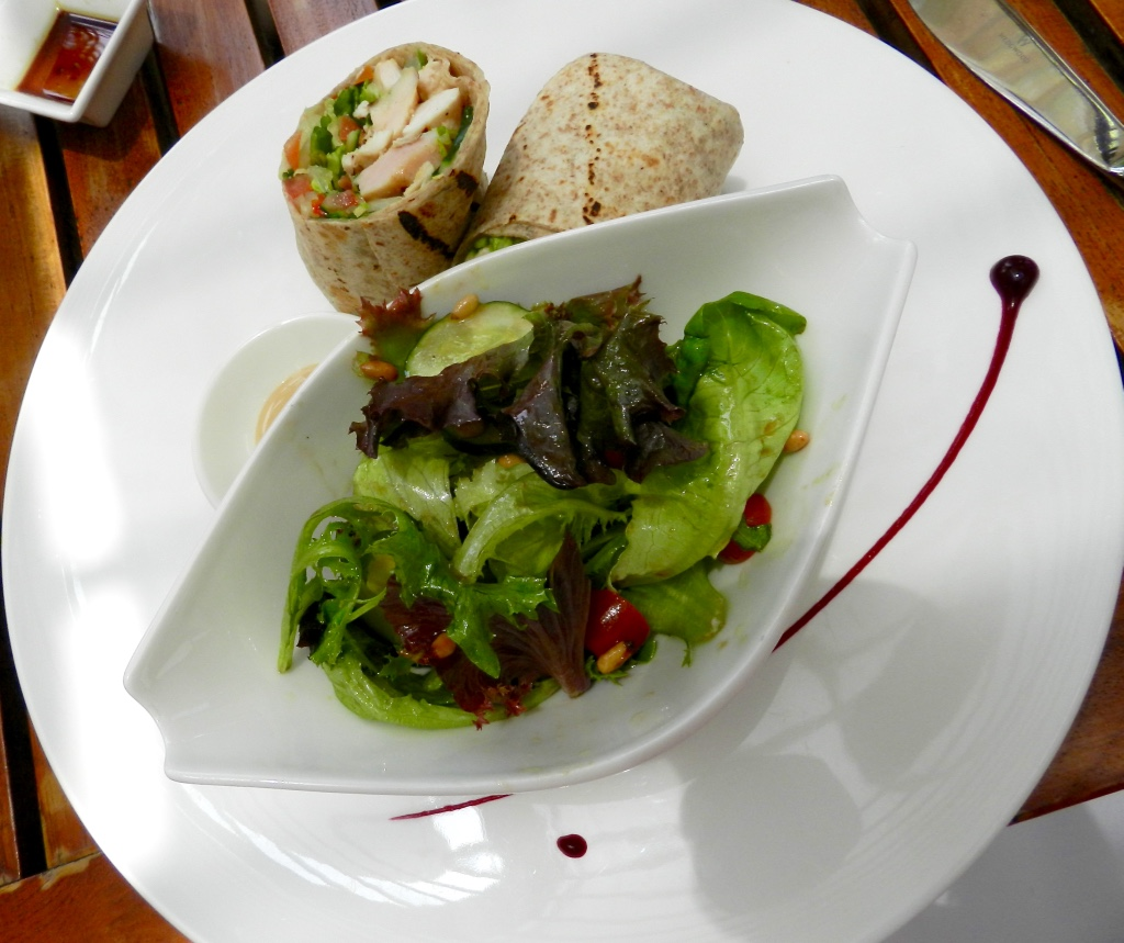 Chicken wrap at the Garden Restaurant Sentosa