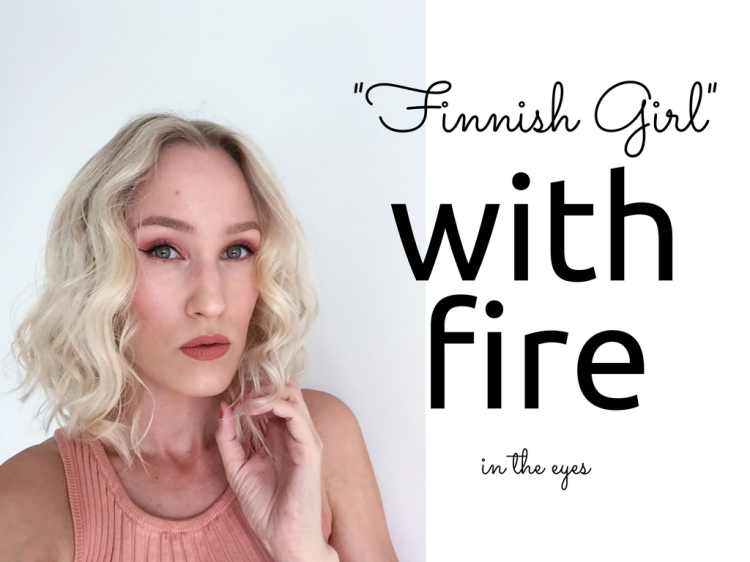 Finnish girl with fire inspired makeup look