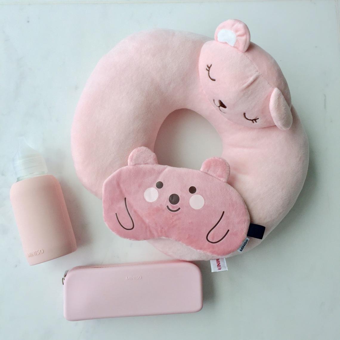 Miniso pink travel essentials