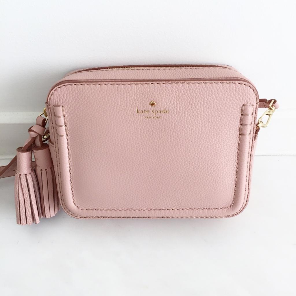 Kate Spade pink nude tassel bag