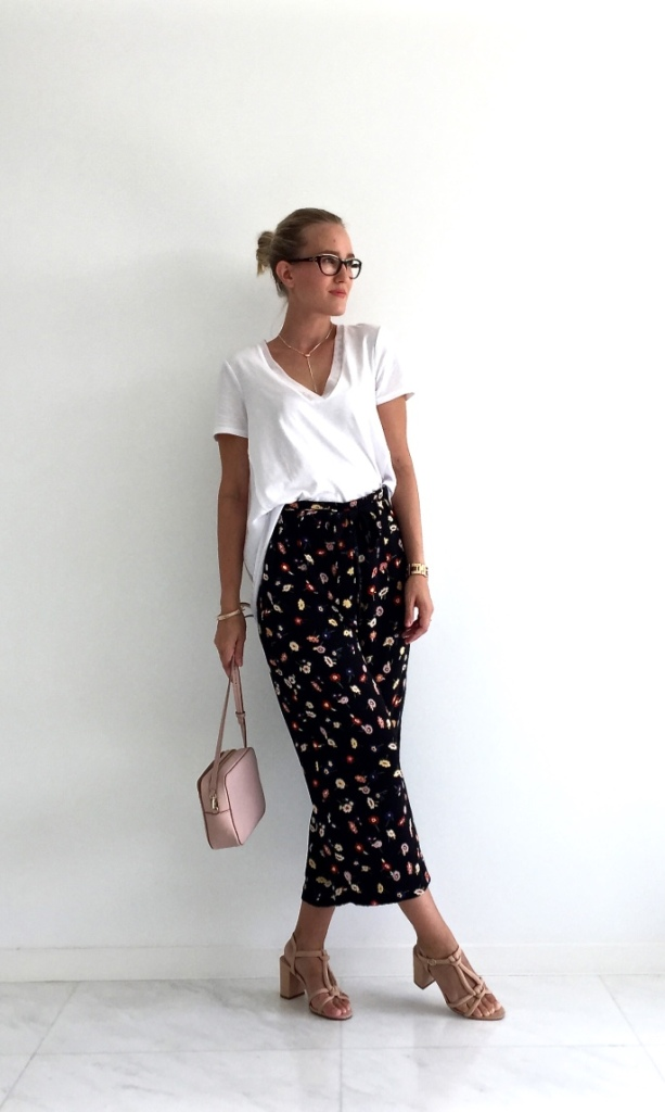 Zara flower culottes outfit