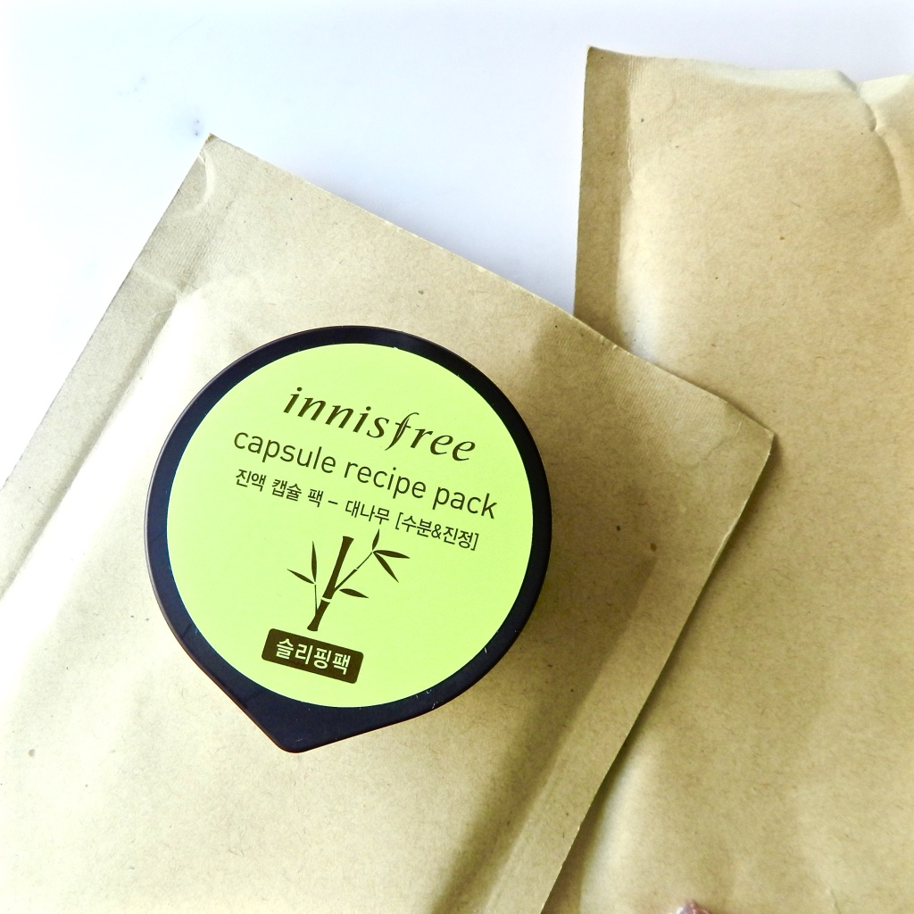 Innisfree shete masks and capsule recipe packs review