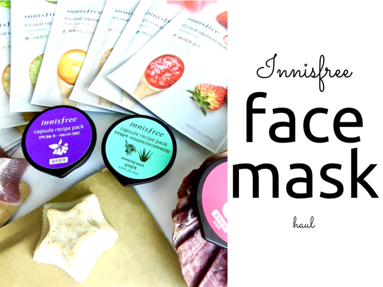 Innisfree sheet masks and capsule recipe packs review