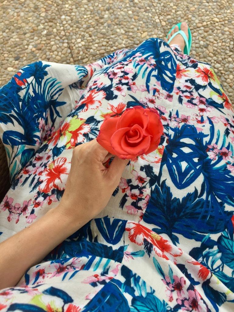 Maxi dress floral printed boho dress