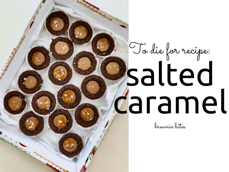 salted caramel brownie bites recipe blog Findianlife
