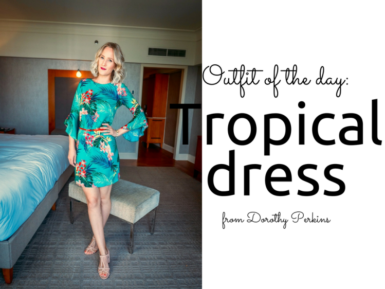Dorothy Perkins Tropical Print Dress outfit blog Findianlife