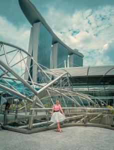 The Helix Bridge Singapore architecture