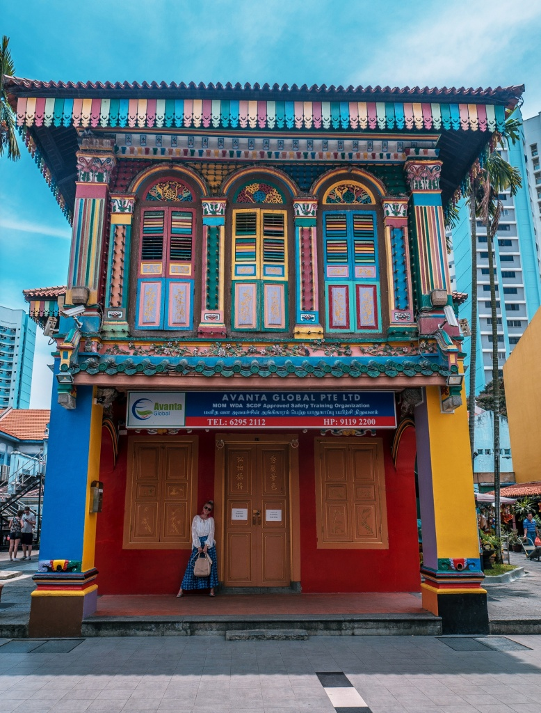 Heritage building in Little India Singapore