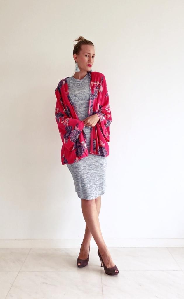 how to style a kimono, kimono outfit ideas